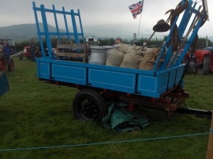 Nicely restored old trailer at Hay Steam Fair