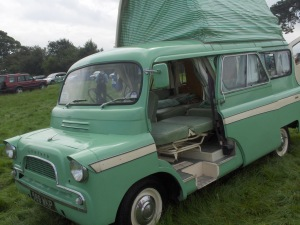 Dormobile on a Bedford CA at Three cocks vintage show 2012