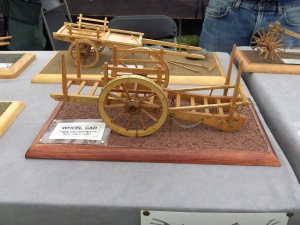 Radnor Wheel Car, wooden model showing immaculate skill.