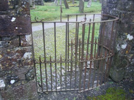 Wrought iron kissing gate